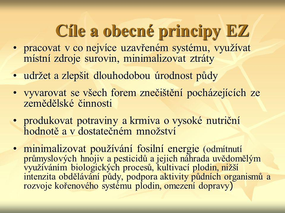 Cíle a obecné principy EZ