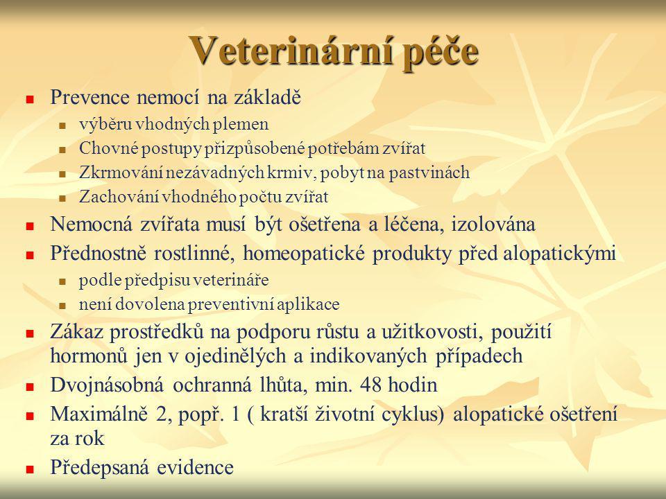 Veterinární péče Prevence nemocí na základě
