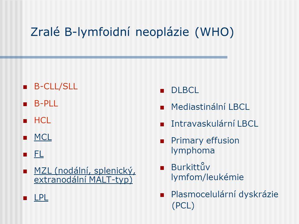 Zralé B-lymfoidní neoplázie (WHO)