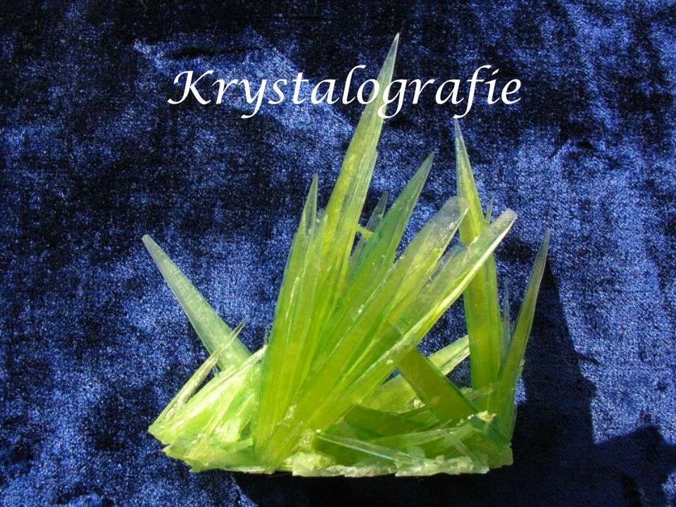 Krystalografie