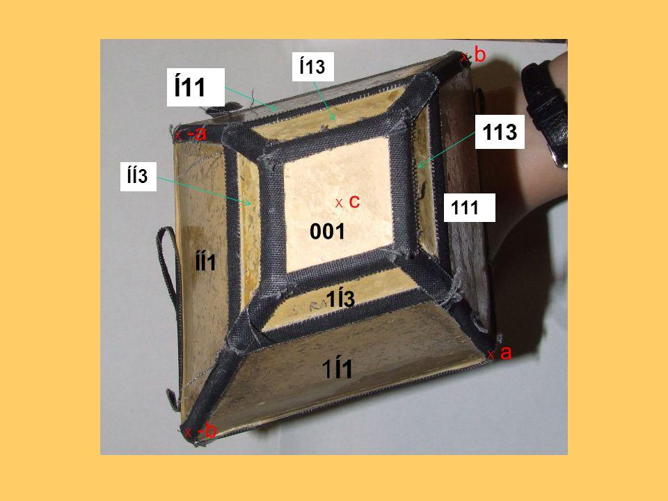 X b Í13 Í11 X -a 113 ÍÍ3 X c 111 001 ÍÍ1 1Í3 X a 1Í1 X -b