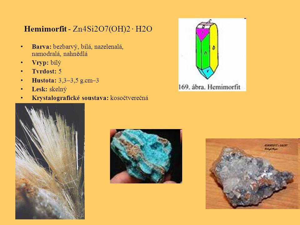 Hemimorfit - Zn4Si2O7(OH)2 · H2O