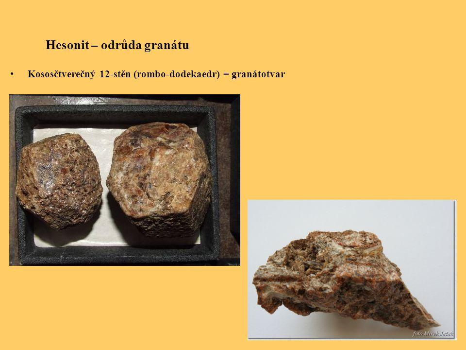 Hesonit – odrůda granátu