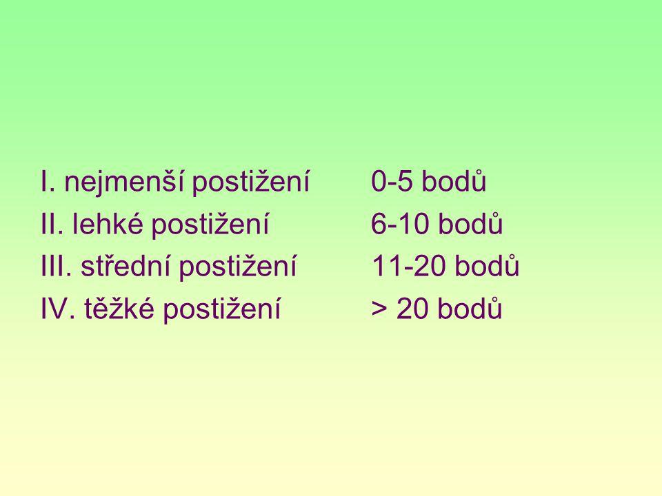 I. nejmenší postižení 0-5 bodů