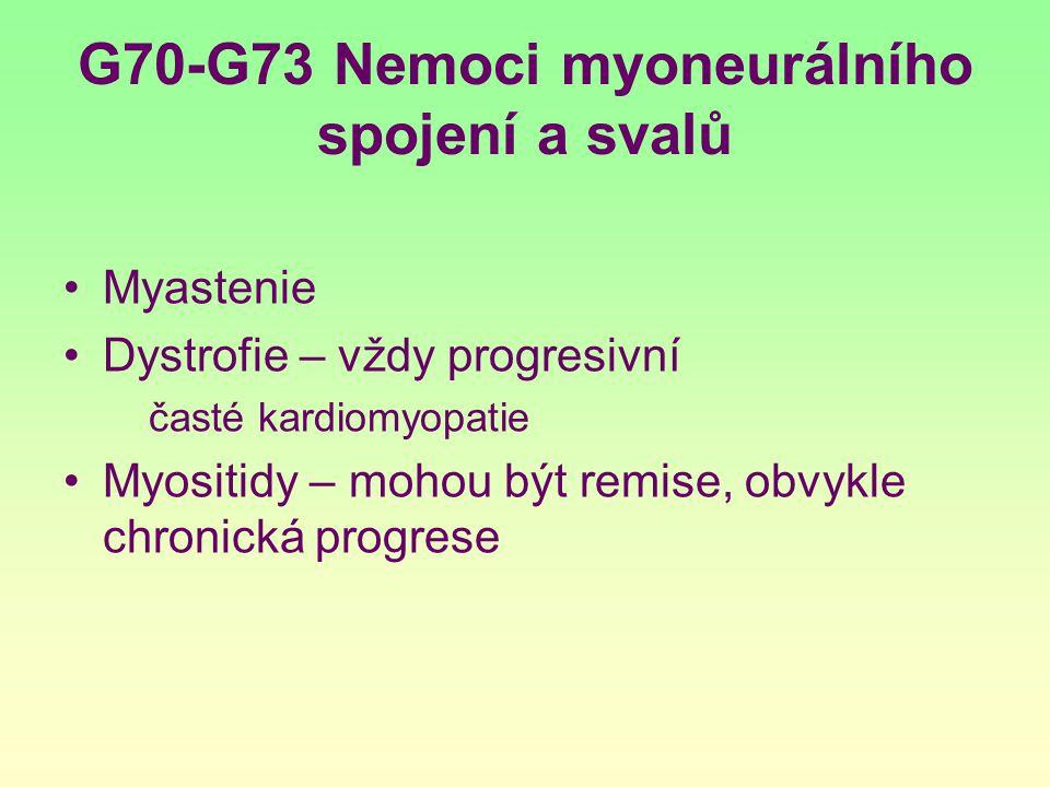 G70-G73 Nemoci myoneurálního spojení a svalů