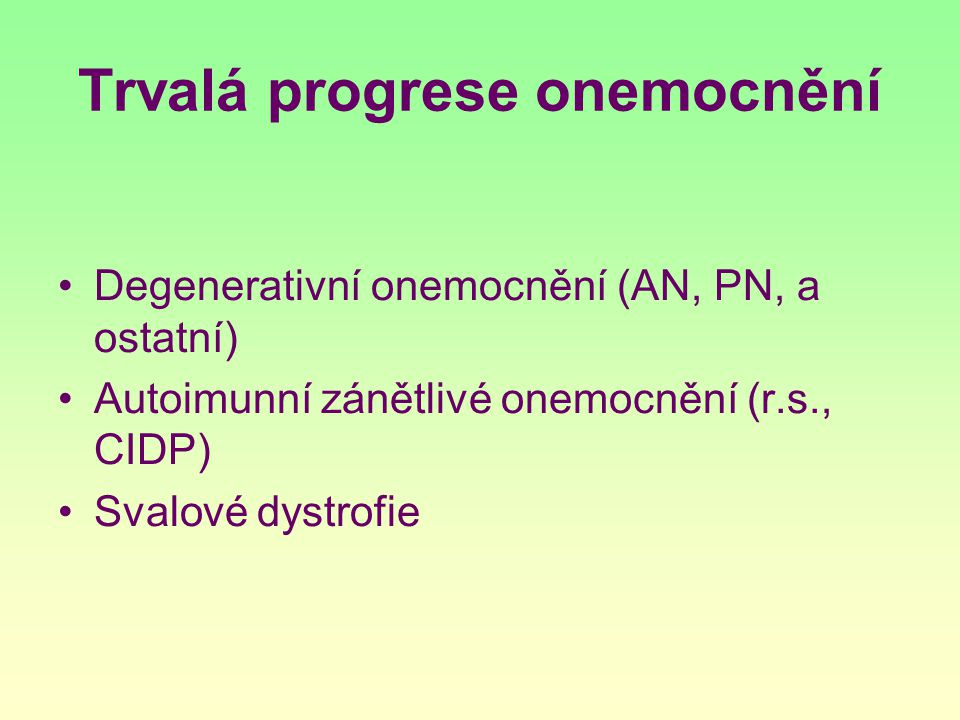 Trvalá progrese onemocnění