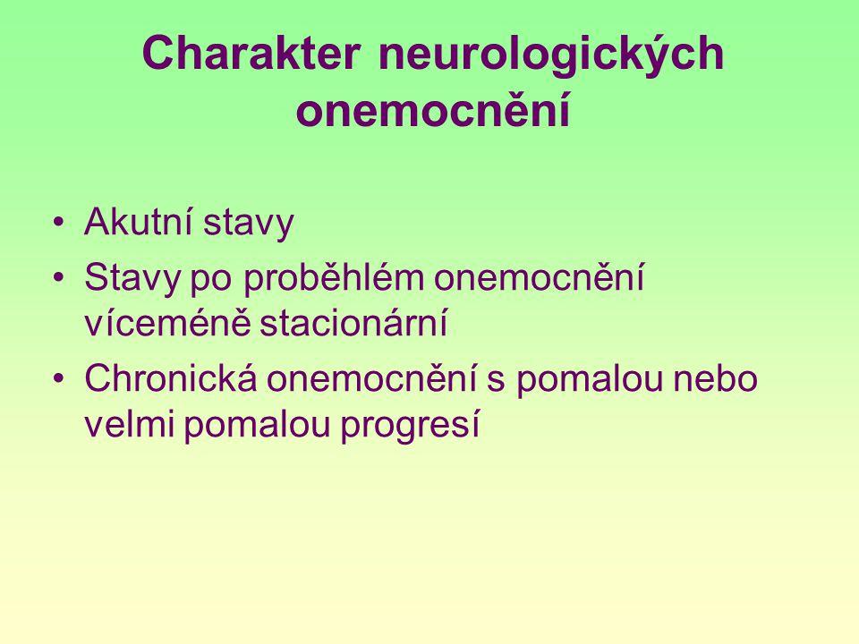 Charakter neurologických onemocnění
