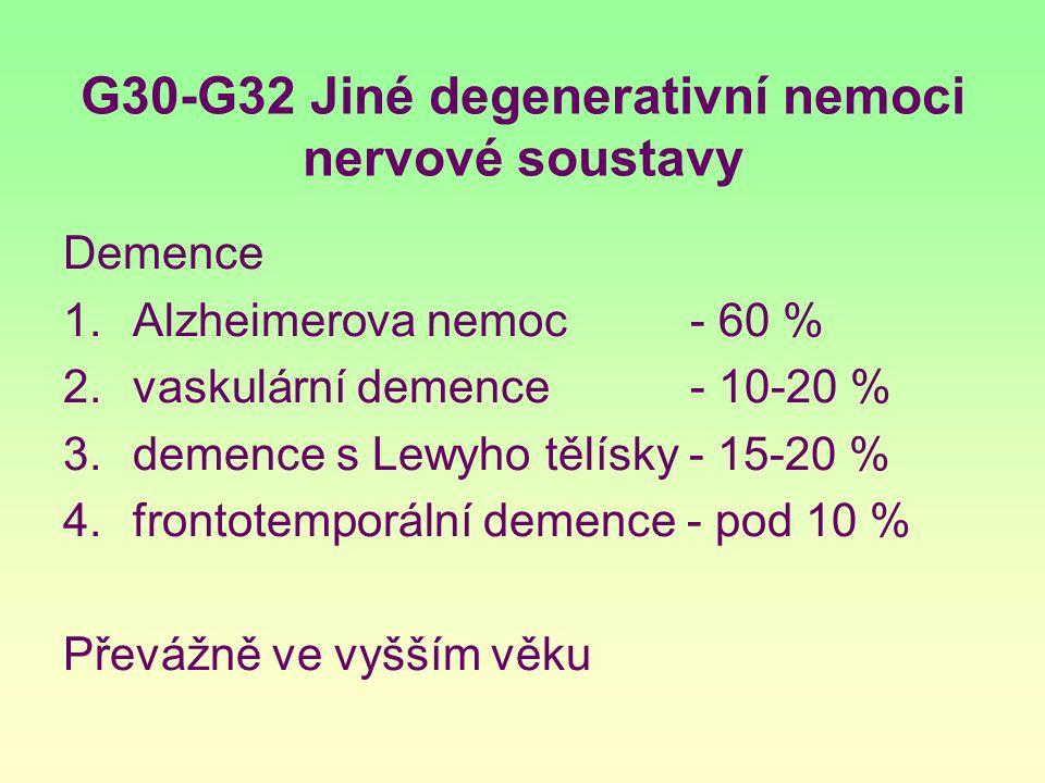 G30-G32 Jiné degenerativní nemoci nervové soustavy