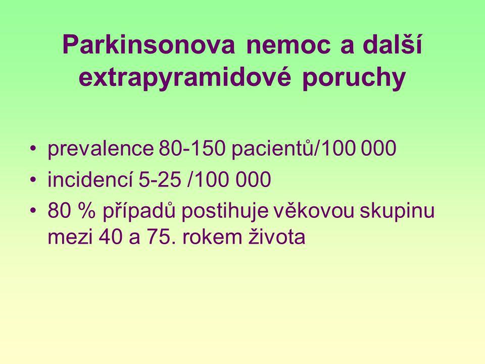 Parkinsonova nemoc a další extrapyramidové poruchy
