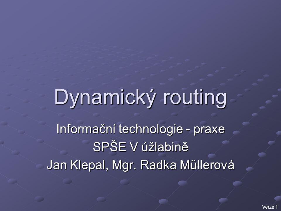 Dynamický routing Informační technologie - praxe SPŠE V úžlabině