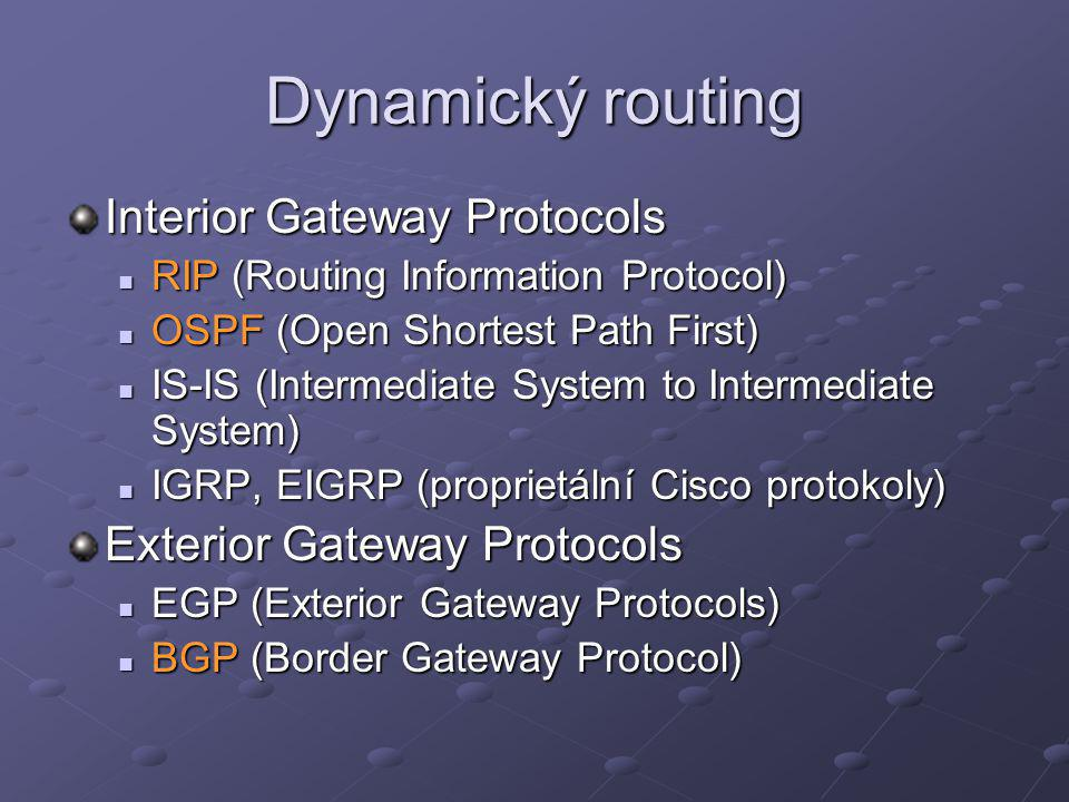 Dynamický routing Interior Gateway Protocols