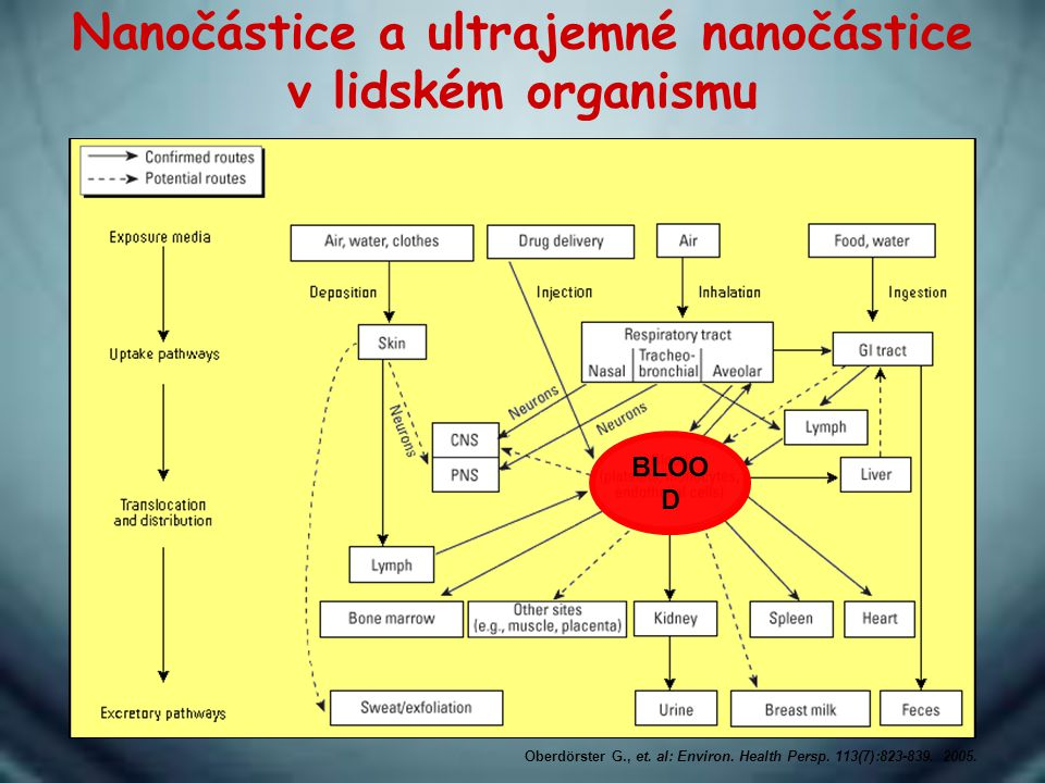 Nanočástice a ultrajemné nanočástice v lidském organismu