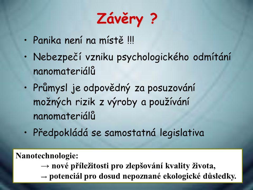 Závěry Panika není na místě !!!