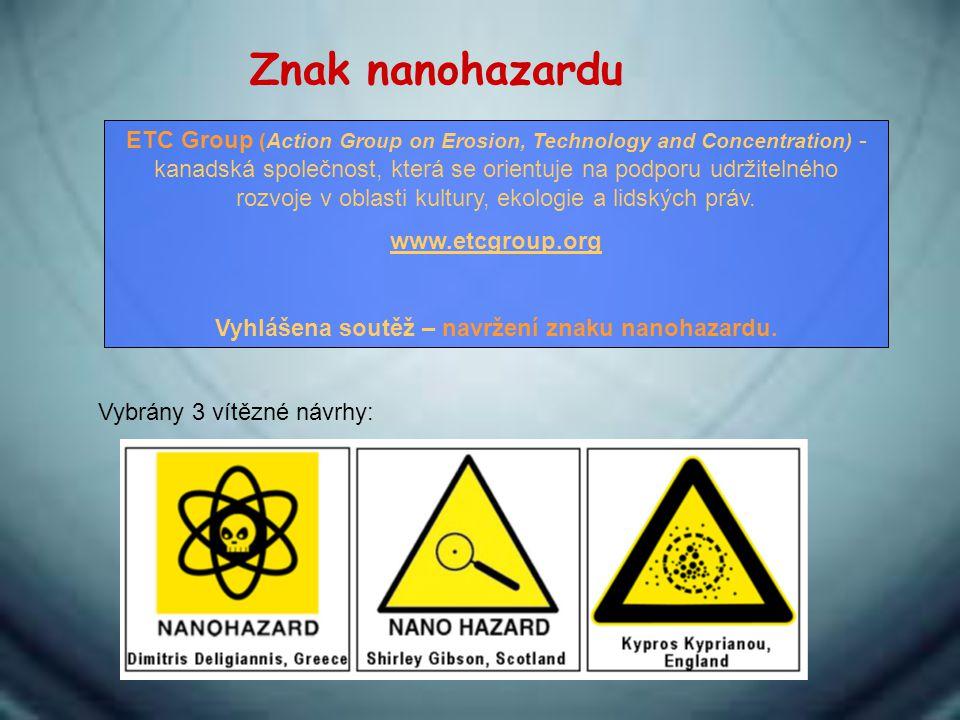 Vyhlášena soutěž – navržení znaku nanohazardu.