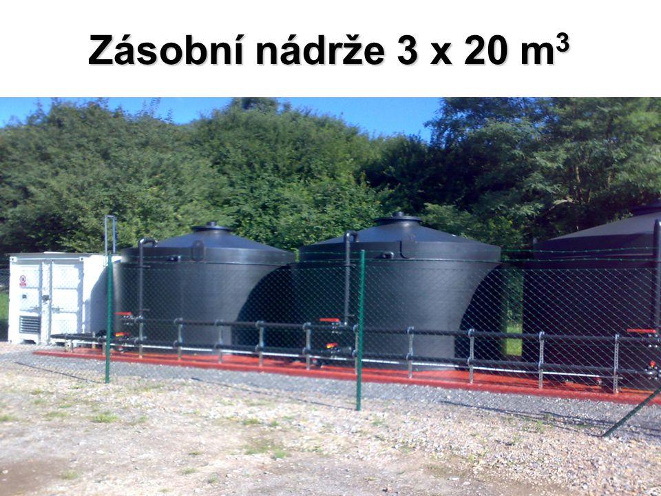 Zásobní nádrže 3 x 20 m3