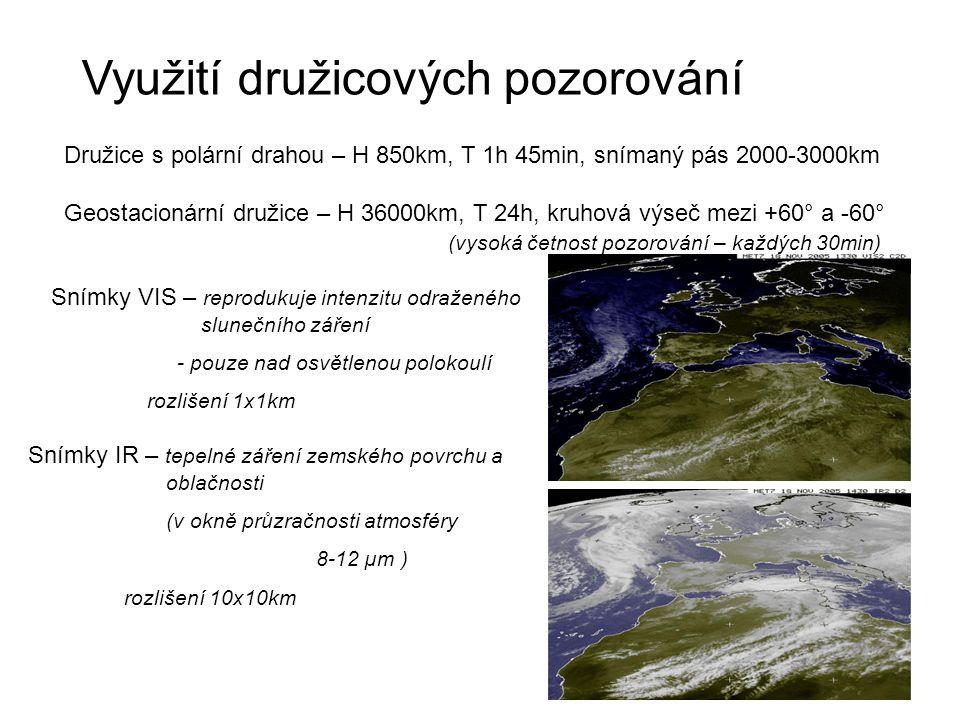Využití družicových pozorování