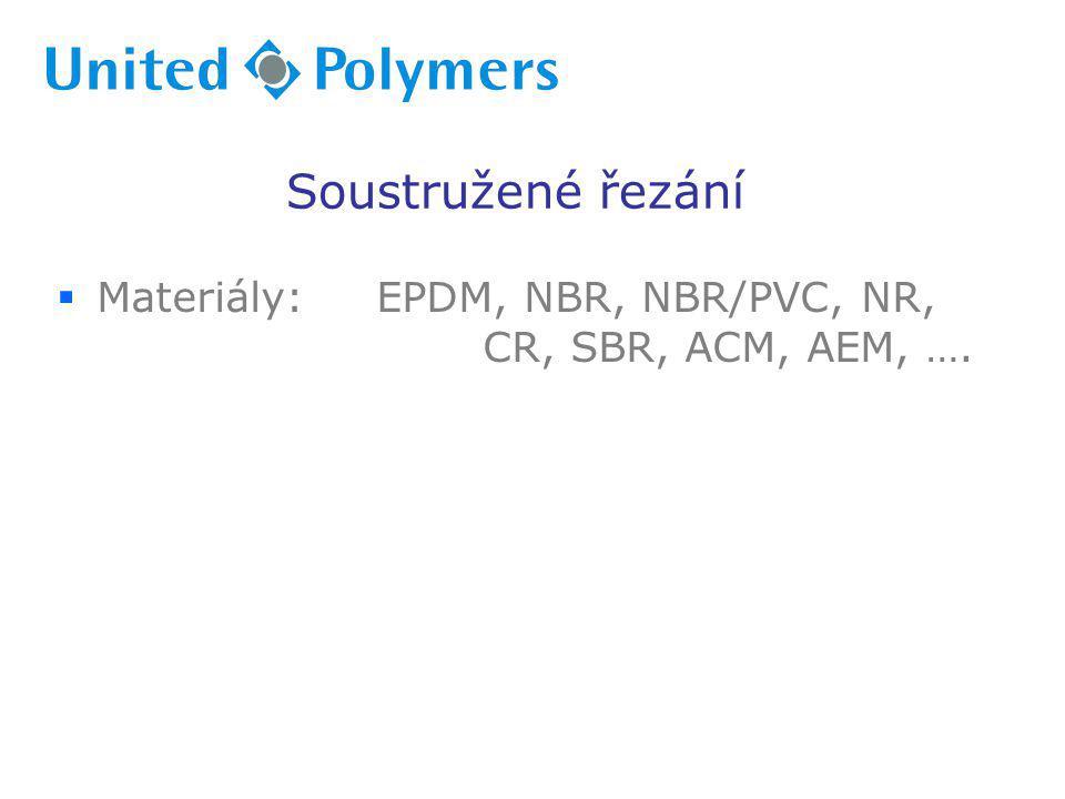 Soustružené řezání Materiály: EPDM, NBR, NBR/PVC, NR, CR, SBR, ACM, AEM, ….