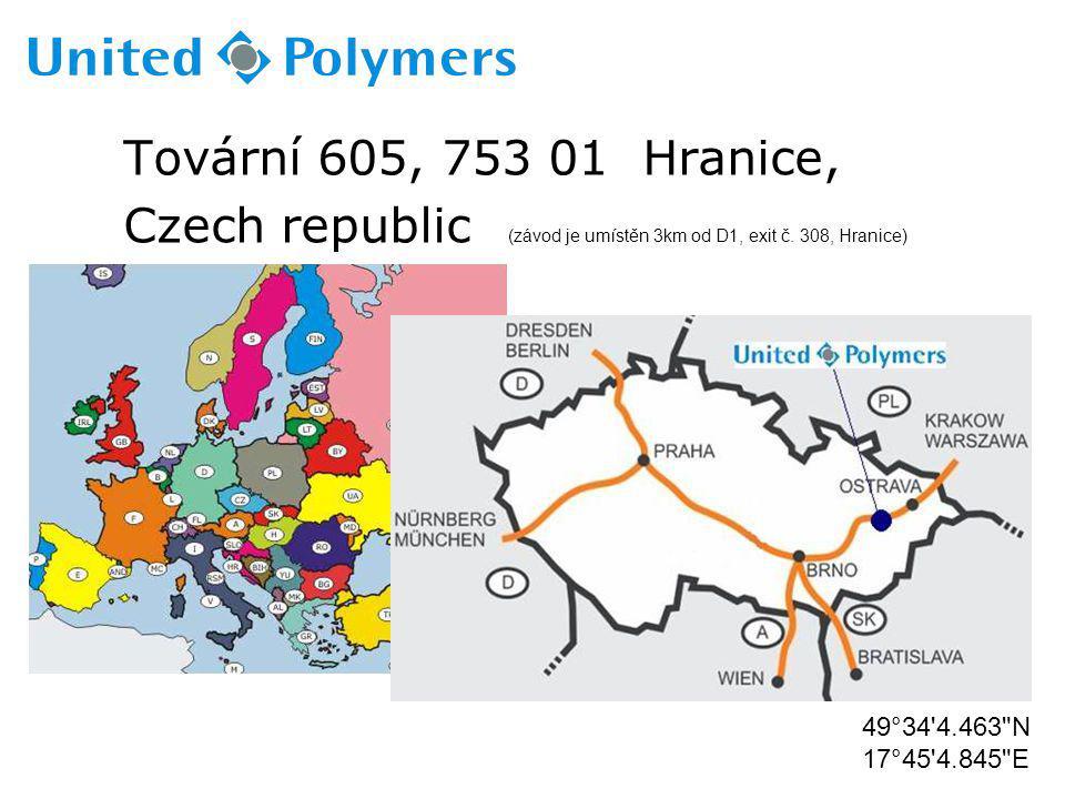 Czech republic (závod je umístěn 3km od D1, exit č. 308, Hranice)