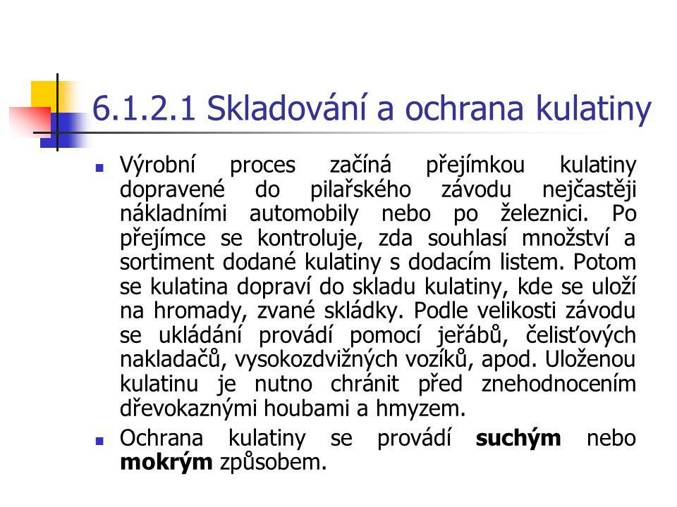 6.1.2.1 Skladování a ochrana kulatiny