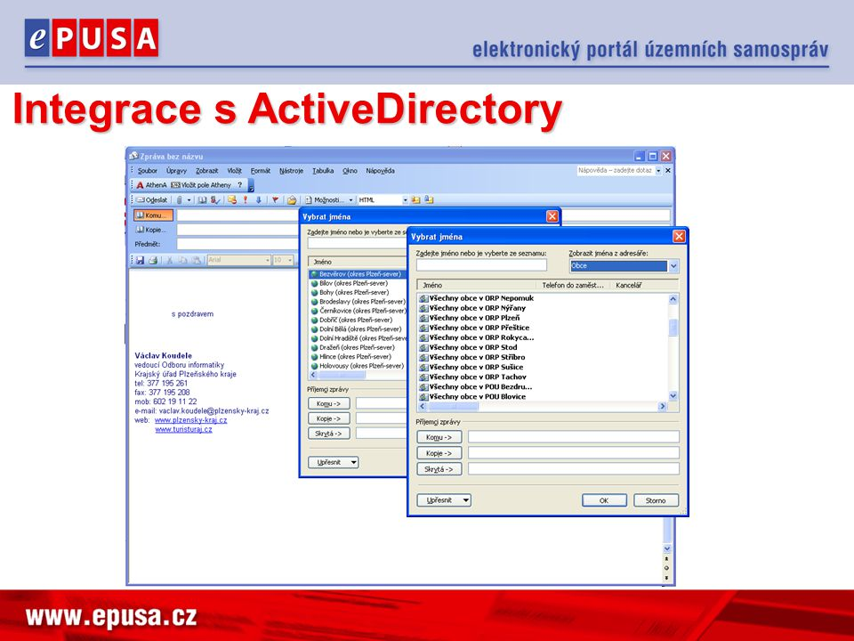 Integrace s ActiveDirectory