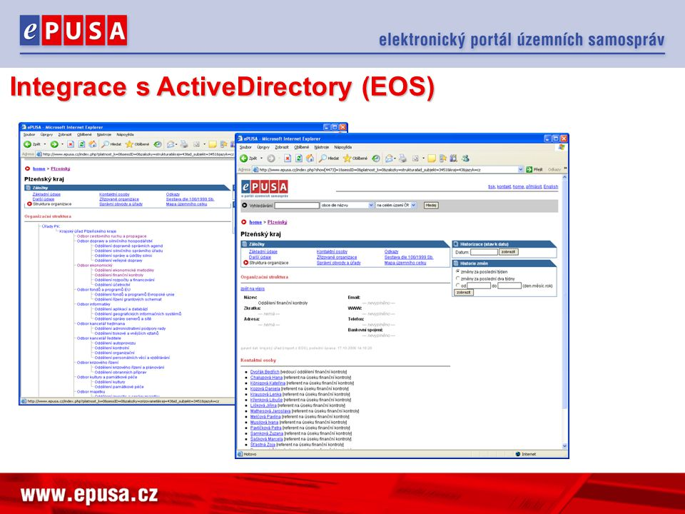 Integrace s ActiveDirectory (EOS)