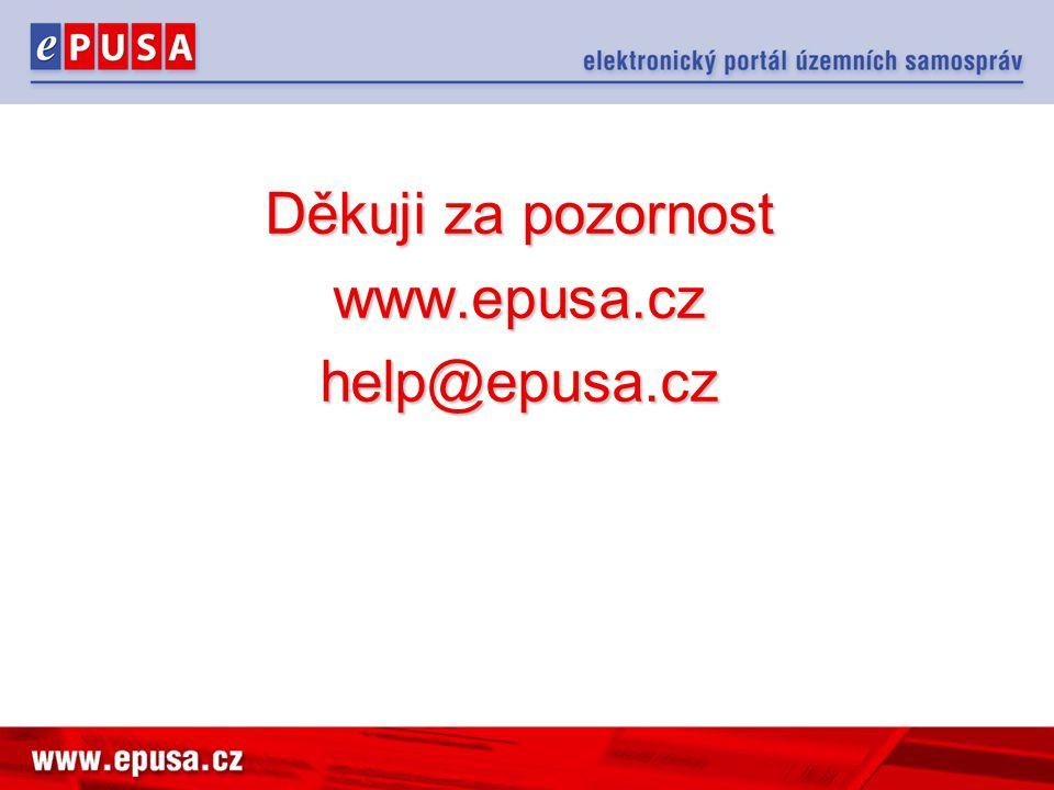 Děkuji za pozornost www.epusa.cz help@epusa.cz