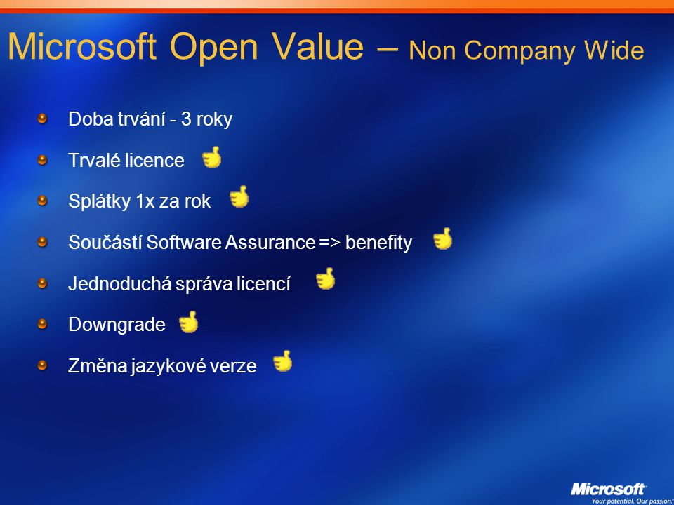 Microsoft Open Value – Non Company Wide