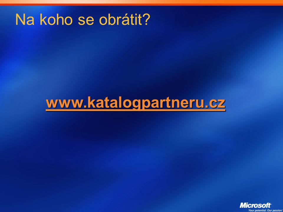 Na koho se obrátit www.katalogpartneru.cz
