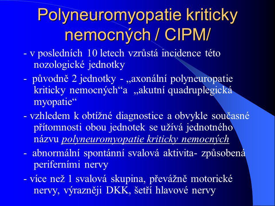 Polyneuromyopatie kriticky nemocných / CIPM/