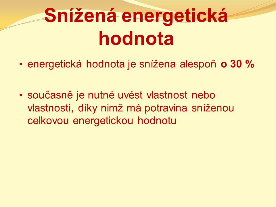 Snížená energetická hodnota