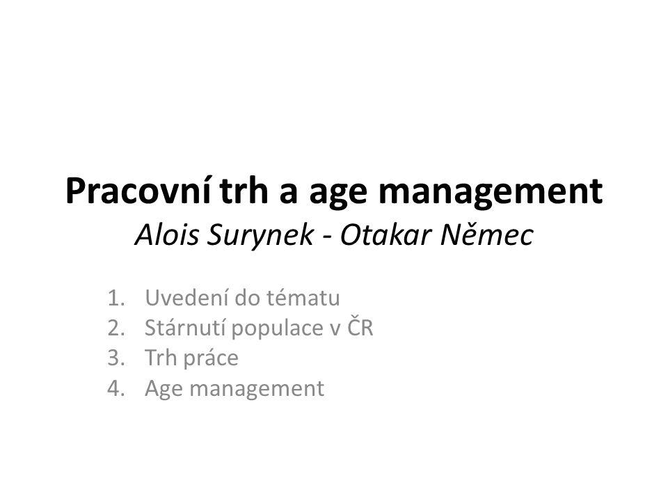 Pracovní trh a age management Alois Surynek - Otakar Němec
