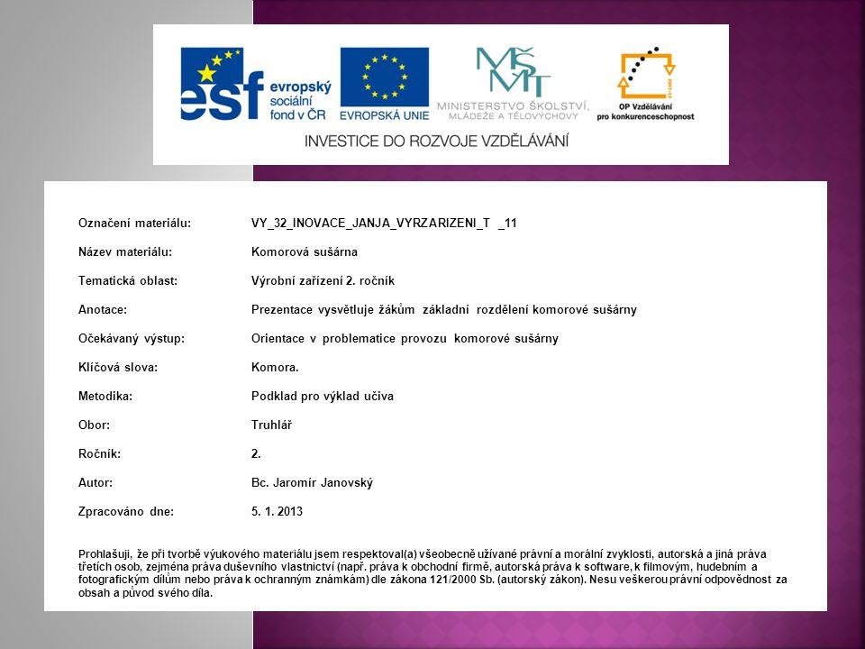 Označení materiálu:. VY_32_INOVACE_JANJA_VYRZARIZENI_T _11
