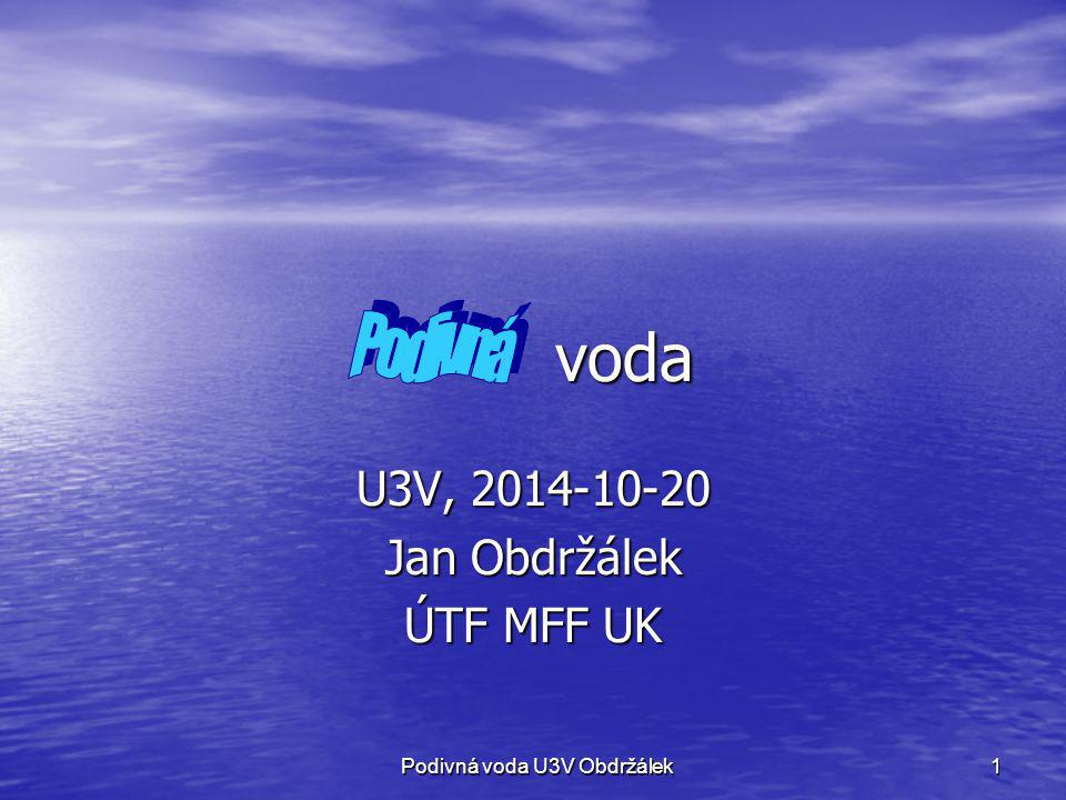 U3V, 2014-10-20 Jan Obdržálek ÚTF MFF UK