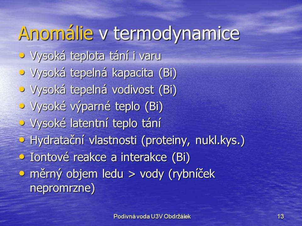 Anomálie v termodynamice