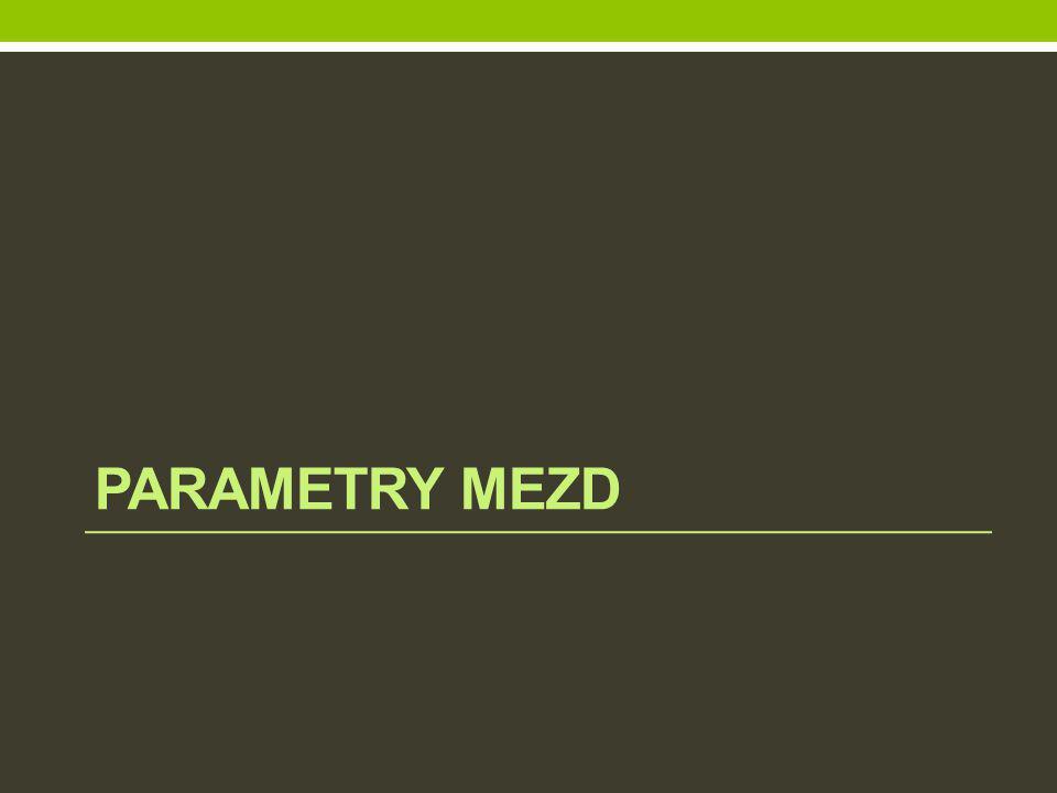 parametry mezd