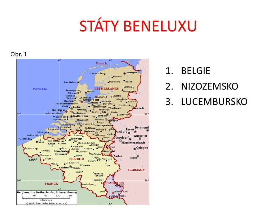 STÁTY BENELUXU Obr. 1 BELGIE NIZOZEMSKO LUCEMBURSKO