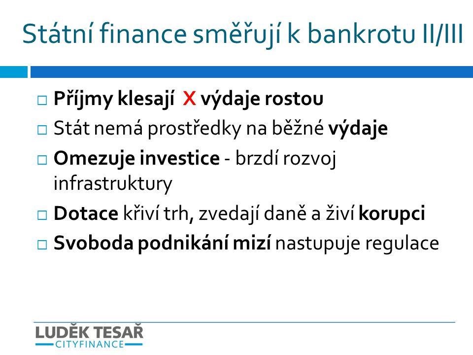 Státní finance směřují k bankrotu II/III