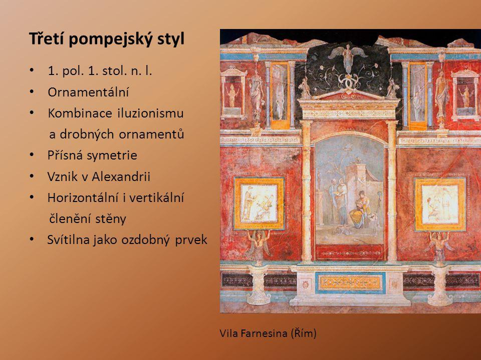 Třetí pompejský styl 1. pol. 1. stol. n. l. Ornamentální