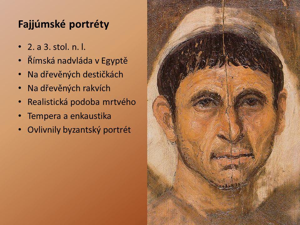Fajjúmské portréty 2. a 3. stol. n. l. Římská nadvláda v Egyptě