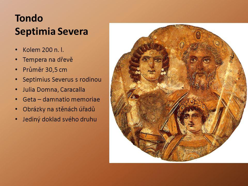 Tondo Septimia Severa Kolem 200 n. l. Tempera na dřevě Průměr 30,5 cm