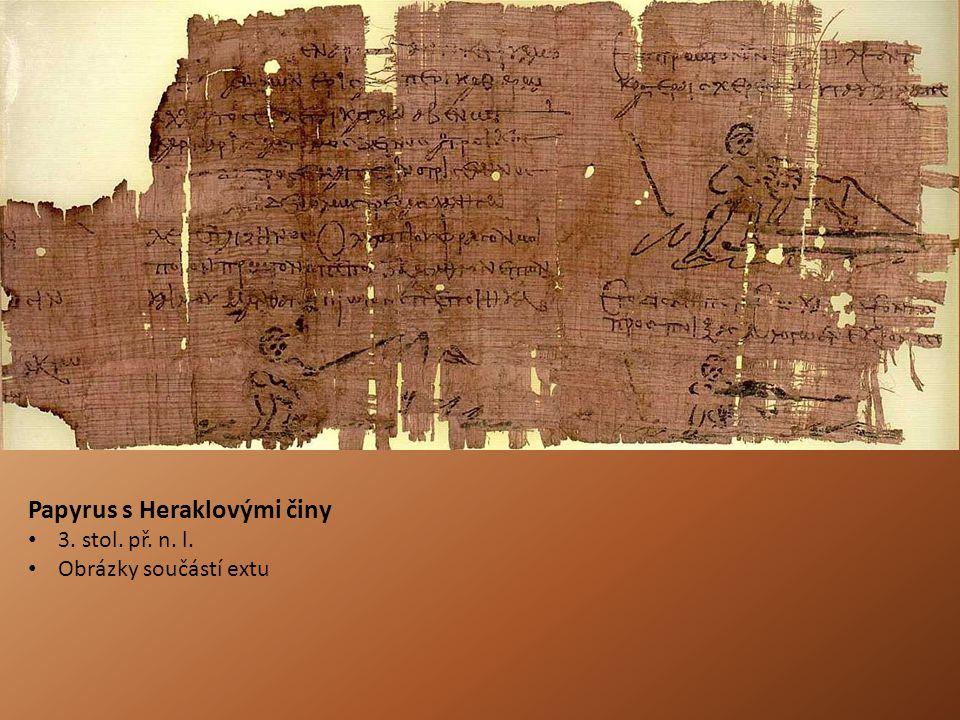 Papyrus s Heraklovými činy