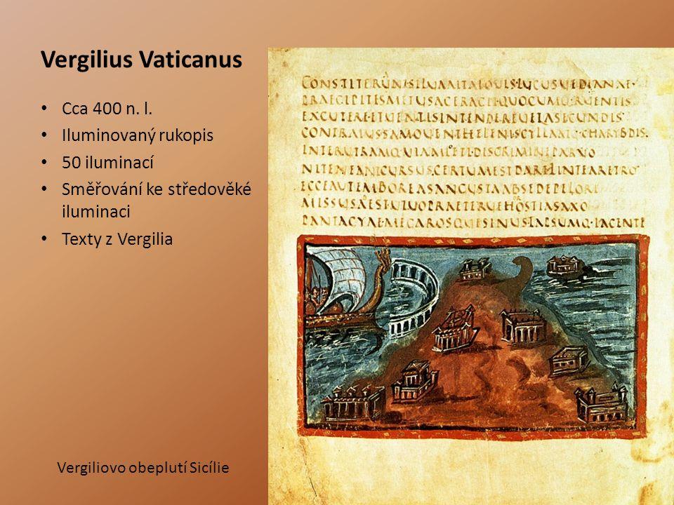 Vergilius Vaticanus Cca 400 n. l. Iluminovaný rukopis 50 iluminací