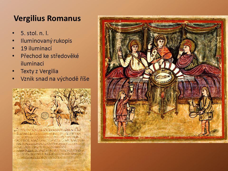 Vergilius Romanus 5. stol. n. l. Iluminovaný rukopis 19 iluminací