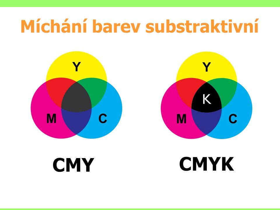 Míchání barev substraktivní