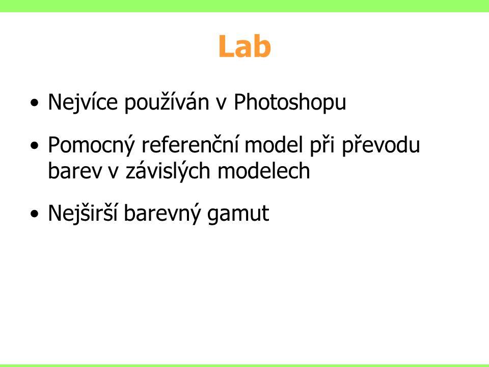 Lab Nejvíce používán v Photoshopu