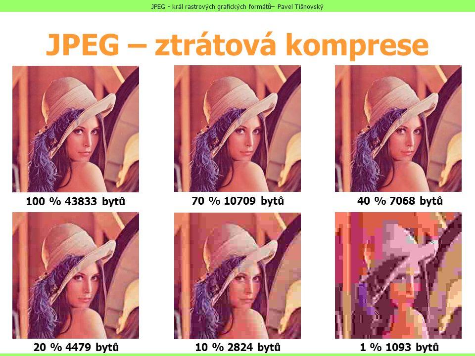 JPEG – ztrátová komprese