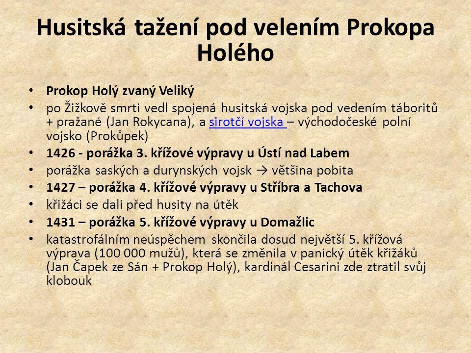 Husitská tažení pod velením Prokopa Holého