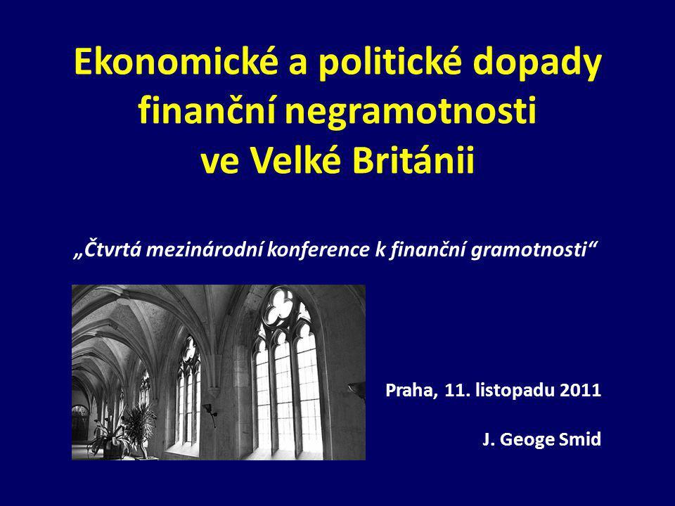 Ekonomické a politické dopady finanční negramotnosti ve Velké Británii