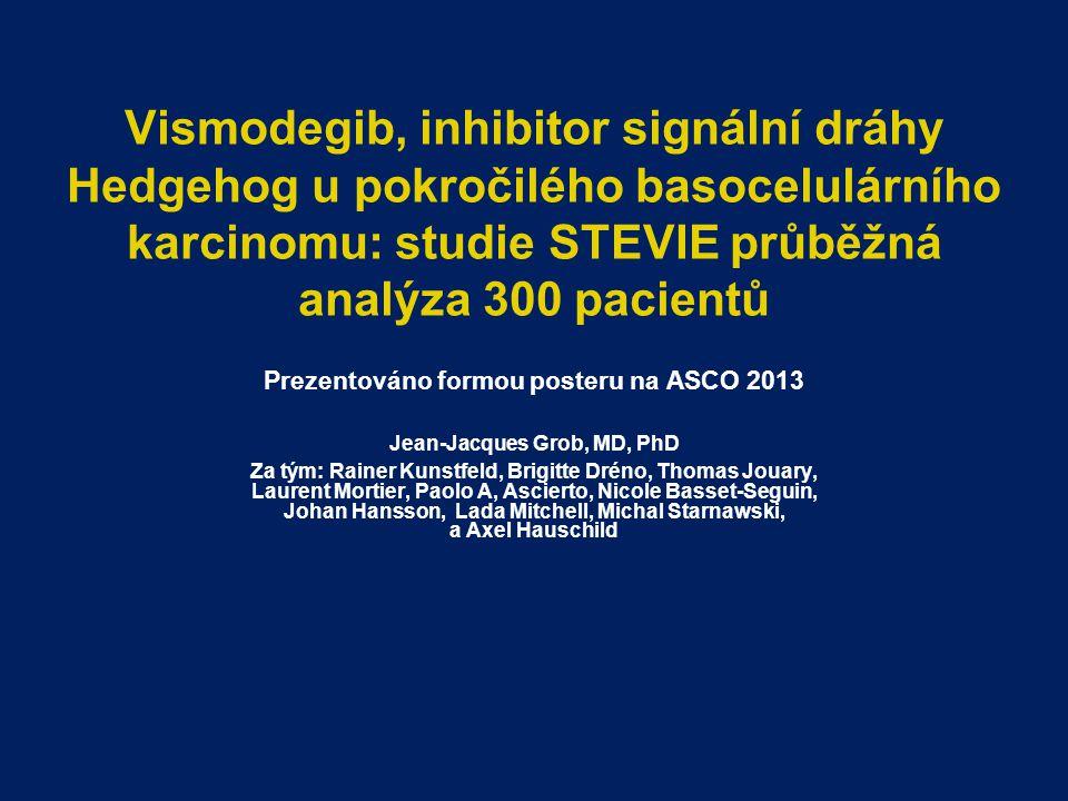 Prezentováno formou posteru na ASCO 2013 Jean-Jacques Grob, MD, PhD