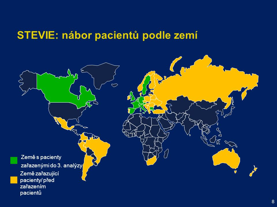 STEVIE: nábor pacientů podle zemí